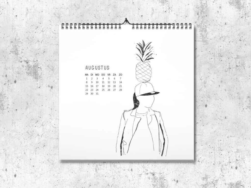 Kalender op maat 2016 augustus