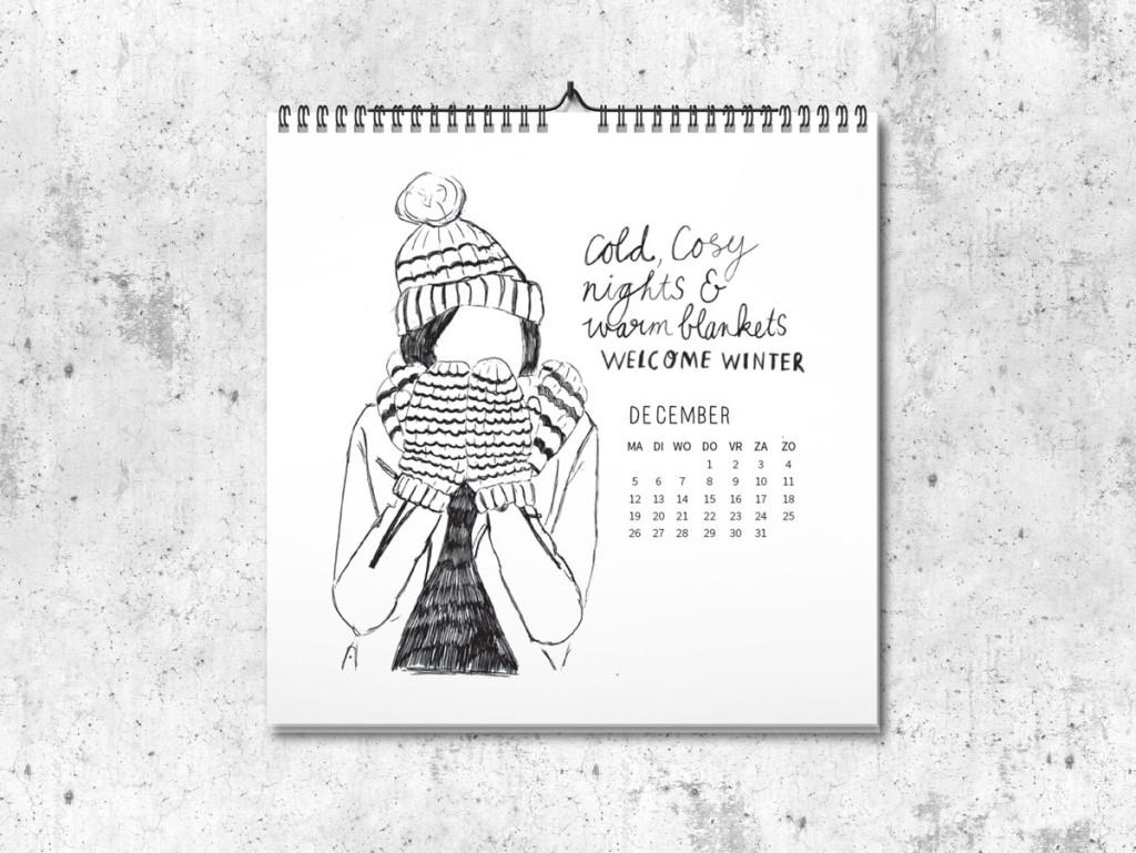 Kalender op maat 2016 december