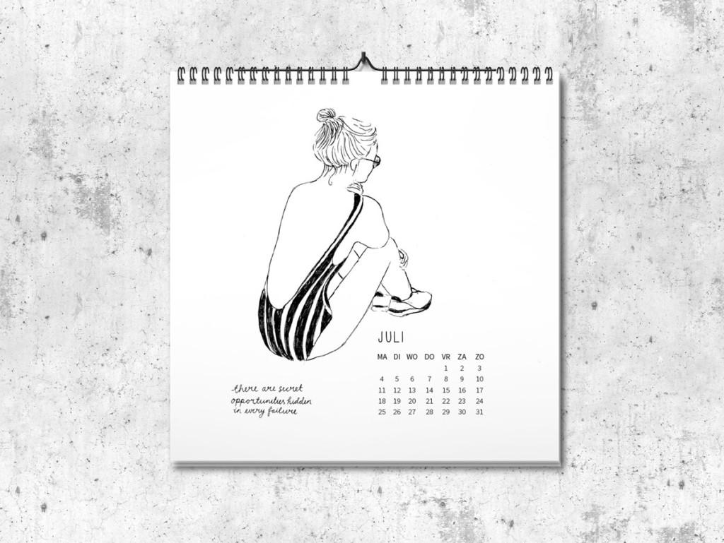 Kalender op maat 2016 juli