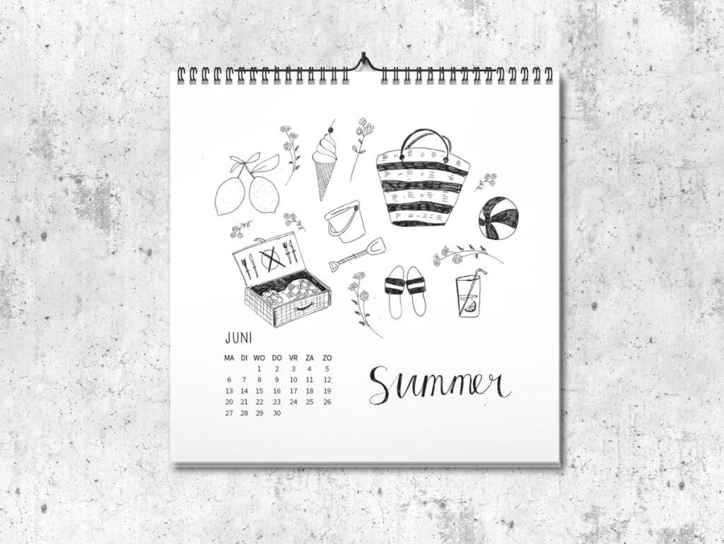 Kalender op maat 2016 juni