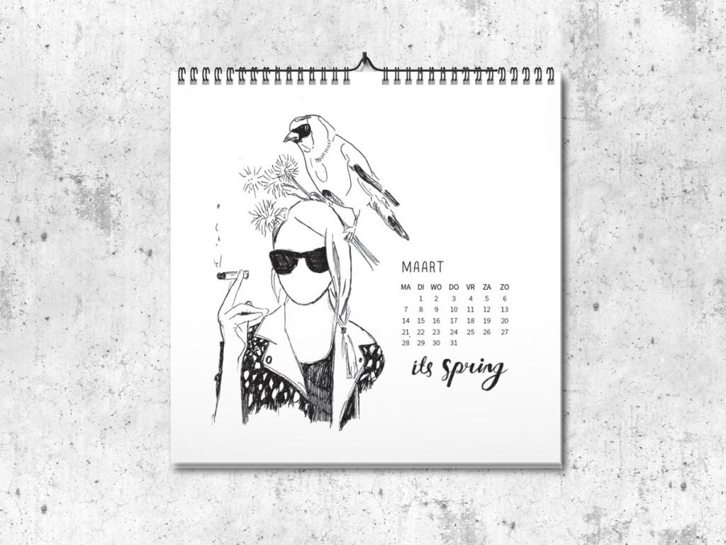Kalender op maat 2016 maart