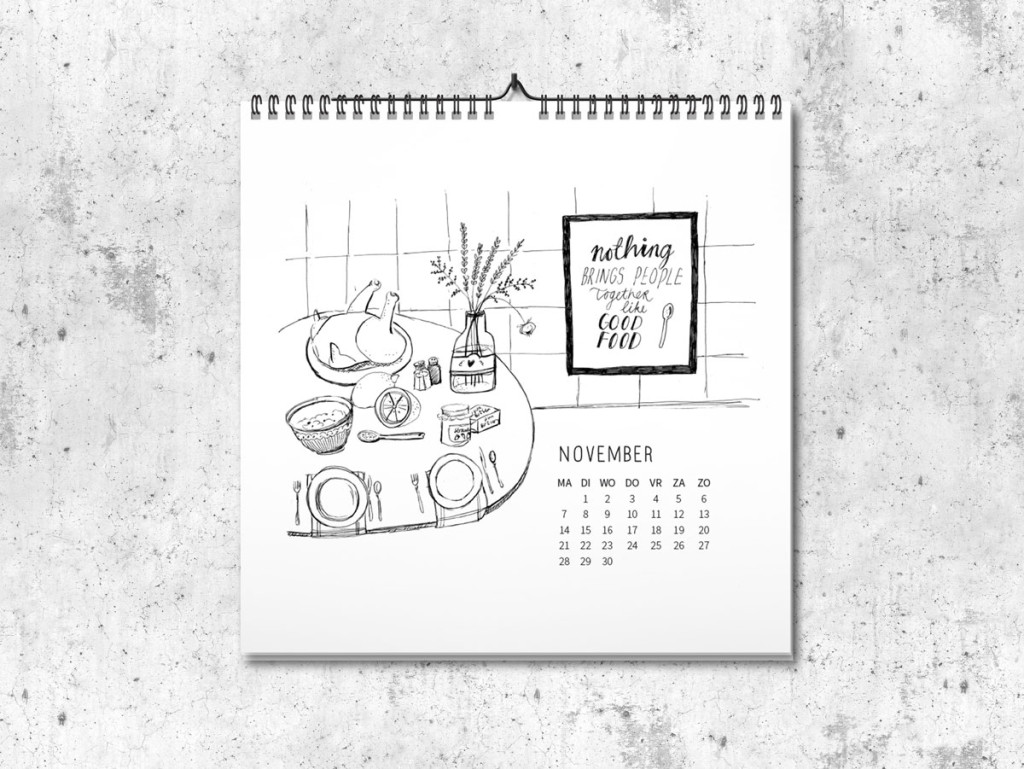 Kalender op maat 2016 november