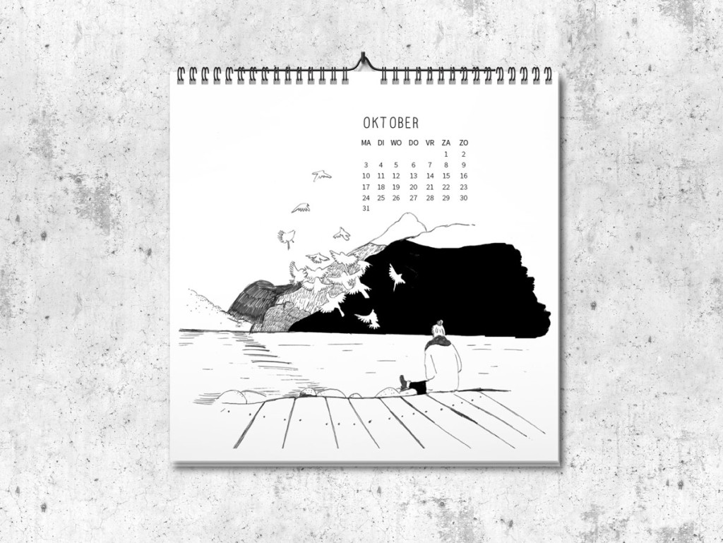 Kalender op maat 2016 oktober