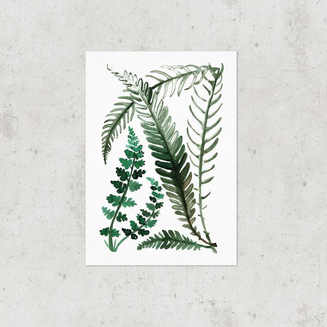 Botanische poster groen