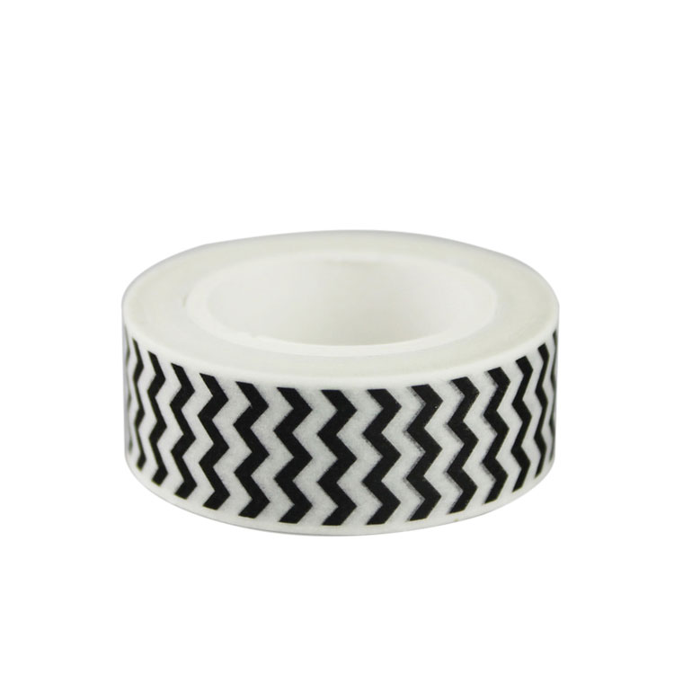 Chevron Washi Tape Zwart